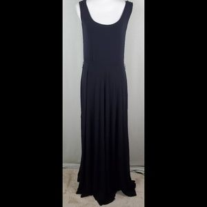 Calvin Klein Maxi Sleeveless Black Dress 10